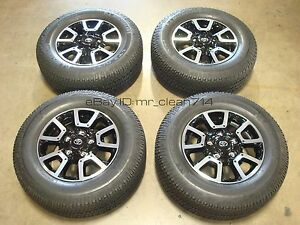 18 14 18 Toyota Tundra Trd Off road Wheels Rims Tires Oem Factory Sequoia Alloy