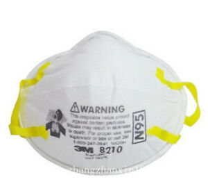 100pcs 5pack 3m 8210 N95 Particulate Respirator Noseclip Adult Dust Mask Pm2 5
