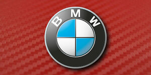 Bmw Vehicle Front License Plate Auto Tag Printed Red Carbon Fiber Aluminum 0317