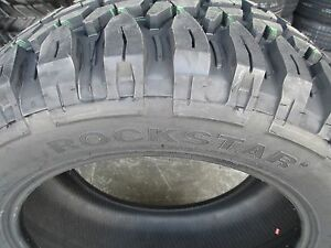 4 New 33x12 50r18 Inch Rockstar Mud Tires 33125018 33 1250 18 12 50 R18 M t Mt