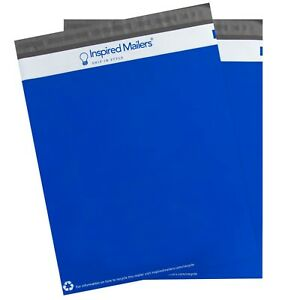 Poly Mailers 14 5x19 Blue With Recycle Symbol Pack Of 100