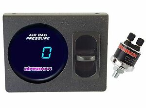 Digital Air Ride Gauge Panel 1 Paddle Switch 200psi Air Suspension System