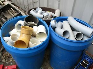 Electrical Pvc Pipe Elbows Connectors Plus Lot Mostly 3 Two Barrels See Pics
