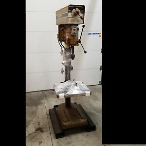 Powermatic 1200 Drill Press 3ph Variable Speed 22 x20 Table Used