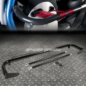 49 Stainless Steel Racing Safety Seat Belt Chassis Roll Harness Bar Rod Black