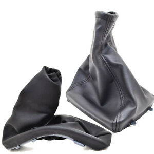 Handbrake Gear Shift Gaiter Boot For Opel Astra G 1998 04 Black Leather P58