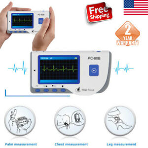 Portable Heal Force Lcd Color Heart Monitor W Ecg Lead Cables 50ecg Electrodes