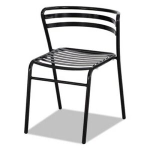 Safco Cogo Steel Outdoor indoor Stack Chair Black 2 carton saf4360bl