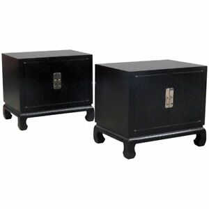 Pair Of Baker Furniture End Tables