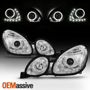 Fits 98 05 Lexus Gs300 Gs400 Gs430 Clear Halo Led Drl Projector Headlights Lamps