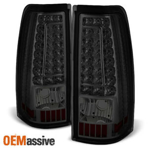Fit 1999 2002 Chevy Silverado Gmc Sierra 1500 2500 3500 Led Smoked Tail Lights