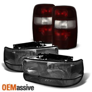 Fit 00 03 Chevy Tahoe Suburban 1500 2500 Headlights bumper Signal tail Lights