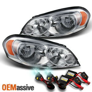 Fit 06 13 Chevy Impala Monte Carlo Replacement Headlights 8000k Blue White Hid
