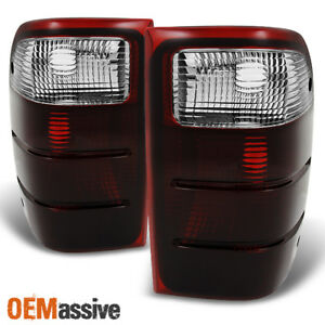 Fit 01 05 Ford Ranger Pickup Dark Red Clear Taillights Brake Lamp Replacement