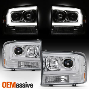 For 99 04 Ford F250 Super Duty 00 04 Ford Excursion Light Projector Headlights