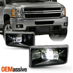 For 2007 2013 14 Chevy Suburban 1500 2500 Cree Led Rectangular Fog Lights Pair