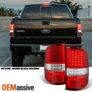Fit 2004 2008 Ford F150 F 150 Full Led Red Clear Tail Lights Tail Lamps