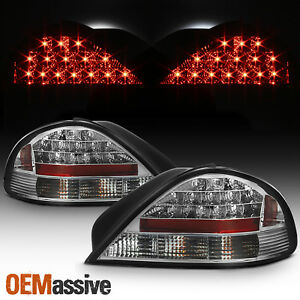 Fits 1999 2005 Pontiac Grand Am Chrome Led Tail Lights Complete Repacement Set