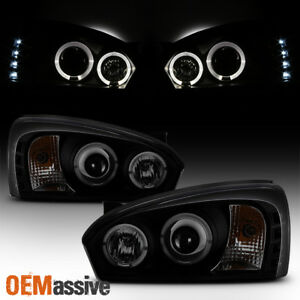 Fits Black Smoked 2004 08 Chevy Malibu Halo Projector Led Headlights Left Right