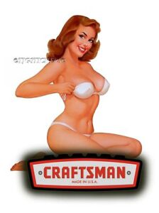 Craftsman Tool Sticker Breaker Girl Sexy Decal Mechanic Toolbox Sign Chest Usa