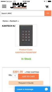 Kantech 1 P225kpxsf Mullion And 1 P325kpxsf Standard Sized Keypad Ioprox Readers