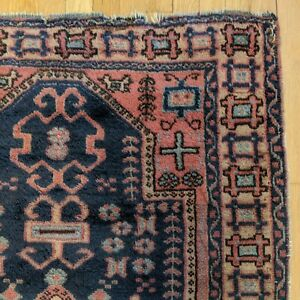 Turkish Rug 3 4 X 5 8 Vintage Blue Sparta
