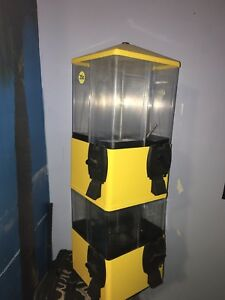 Yellow U turn Terminator Gumball Candy Vending Machine