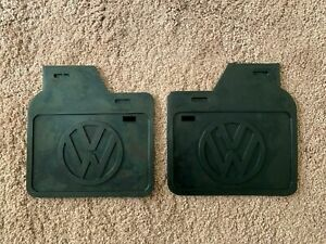 Vw Bug Beetle Kaffer Accessories Black Mud Flaps With White Logo Pair 388