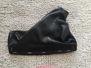 2005 2013 C6 Corvette Emergency Brake Black Leather Boot Cover Oem