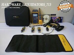Fluke Networks Cableiq Ciq kit Cable Tester Intellitone Pro 200 fast Shipping