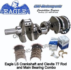 Ls 5 3 Stroker Crank 363 Eagle Crankshaft Forged 4 000 24t With Bearings