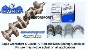 Sb Chevy 350 Crank Forged Eagle Crankshaft 3 480 2pc With Clevite Bearings