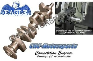 Sb Chevy 350 Blower Crank Forged Eagle Crankshaft 3 480 Stroke 1 4 Keyway