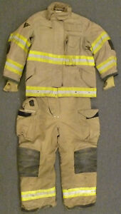 Firefighter Set Jacket 40x29 Pants 38r Bunker Turn Out Gear Janesville S22