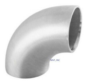 6 Schedule 10 Long Radius Butt Weld 90 Elbow 304 l Stainless Steel Sb011518304