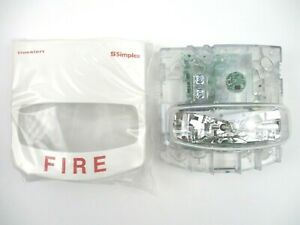 new Simplex 4906 9111 Fire Alarm Wall Mounted Multi candela Strobe White