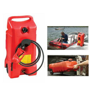 Portable Gas Diesel Petrol Fuel Tank Oil Container Jug Jerry Can Pump Hose Flo