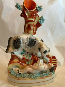 Staffordshire Rescue Dog And Child Spill Vase
