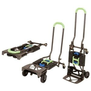 Hand Truck Foldable Heavy Duty Car Dolly Cart Moving Warehouse Push 300 Lbs New
