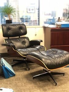 Authentic Herman Miller Eames Lounge Chair Set Pre Owned