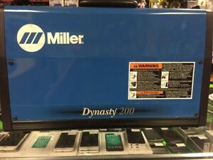 Miller Dynasty 200 Sd Tig Welder 907099 Slightly Used Free Shipping