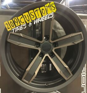 20 New Iroc z Replica Wheels Rims Tires Black 20x10 20x11 5x120 Camaro Ss