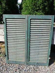 Pair Old Victorian Wood Shutters 42 X 18 3 4 Ca 1870 Historic Mansion