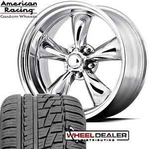 17x8 American Racing Torq Thrust Wheel Tire Package For Chevy C3 Corvette