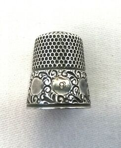 Sterling Silver Thimble Size 8 By Ketcham Mcdougall Co Sewing 418