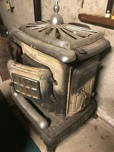 Wood Burning Stove Used Vintage Antique