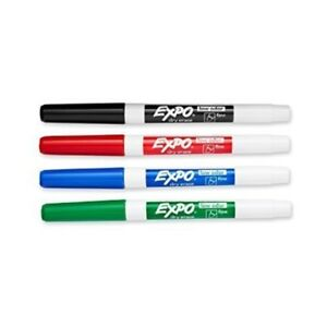 Expo 2 Low odor Dry Erase Markers Fine Point assorted Colors 4 pack Of 4