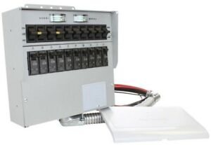 Reliance Controls Generator Manual Transfer Switch Home Office 50 Amp 10 Circuit