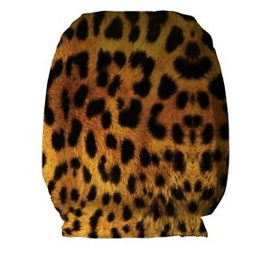 Real Leopard Print Design Car Seat Head Rest Covers Pack Of Two Accessory Gift