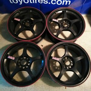 18 Rays Volk Gramlight 57f Wheels 5x114 3 Jdm Authentic Imported Rare Forged